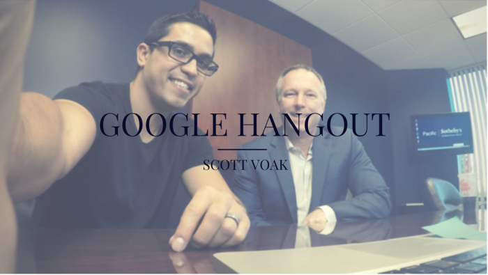 Google Hangout on Air with Scott Voak