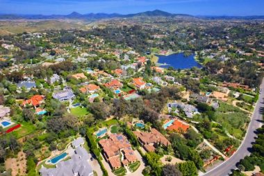 San Diego - Rancho Santa Fe - Fairbanks - Gold Coast Aerial - Spanish Style Fairbanks Estate